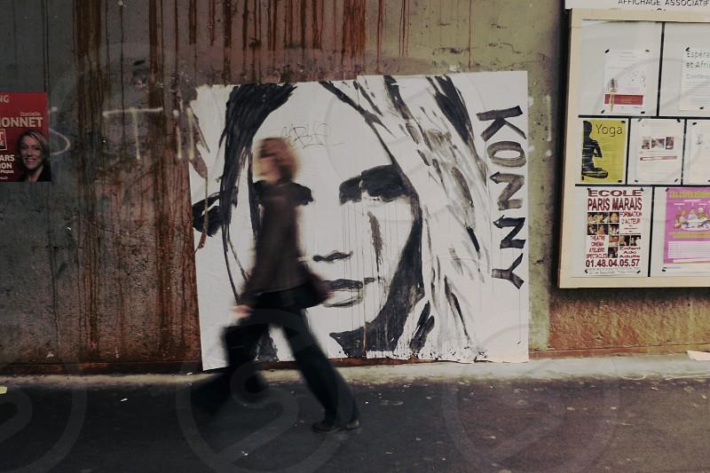 street art by konny steding at le marais in Paris photo