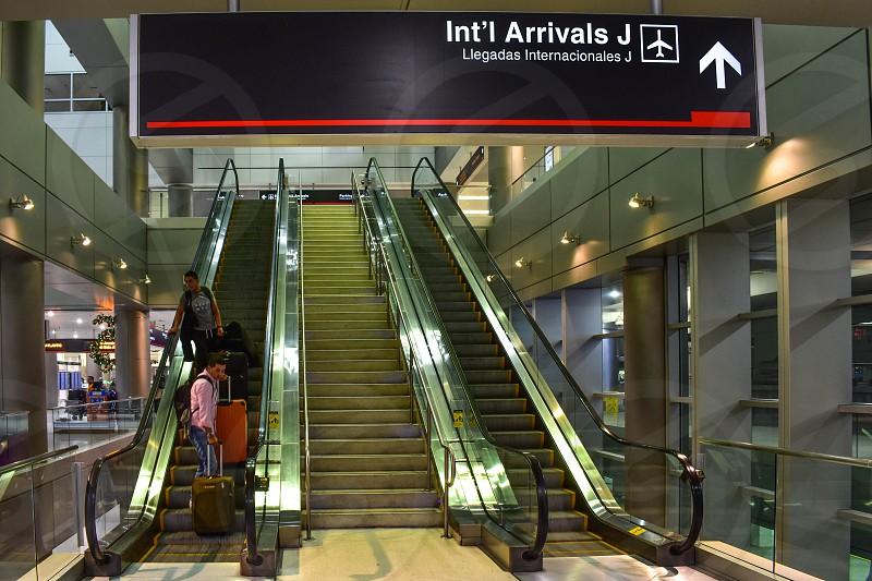 Miami Florida. January 05 2019. International Arrivals J sign at Miami International Airport . photo