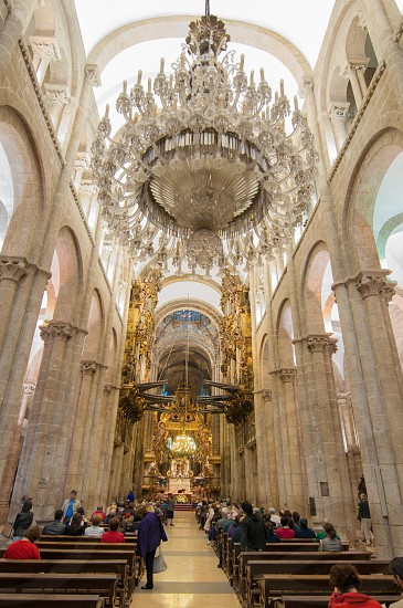 Santiago de Compostela Cathedral interior view. photo