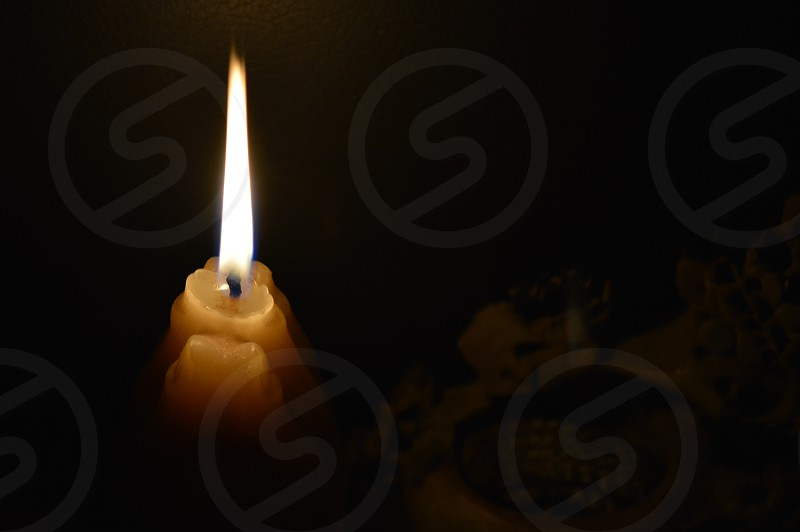 candle lightened photo