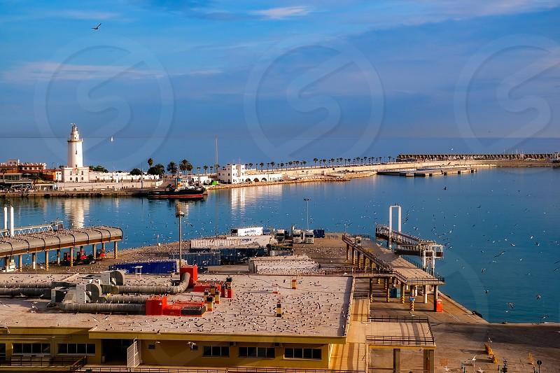 Malaga port Spain photo