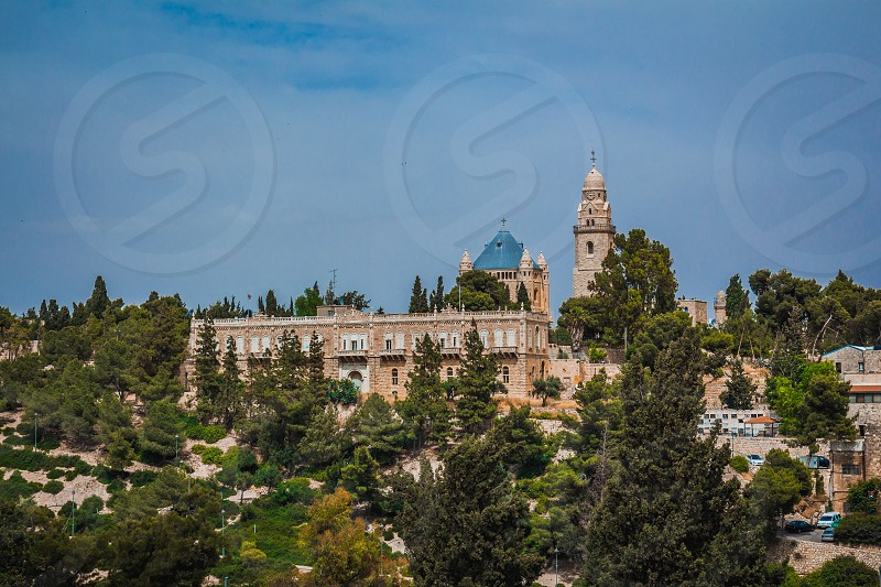 The Abbey of the Dormition building at mount zion in Jerusalem. photo