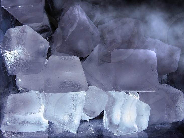 macro shot photography of ice cubes photo