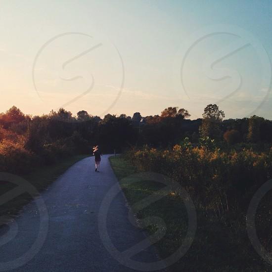 walking path paved photo