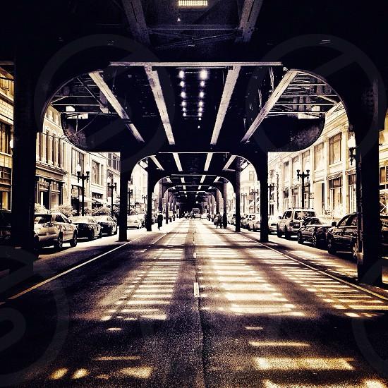 Under the L ... Chicago Illinois photo
