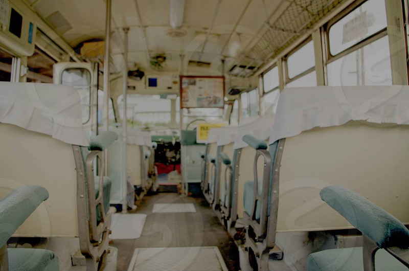 in a japanese old bus photo