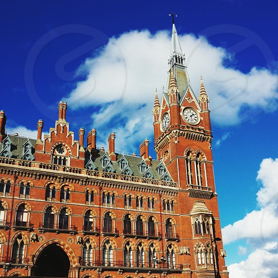 St Pancras on a clear sunny day in London. photo