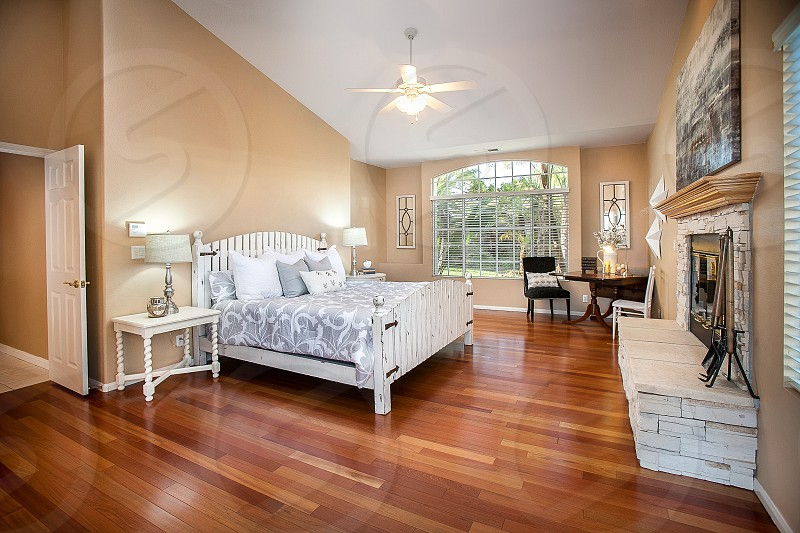 Luxury residence with wood floors photo