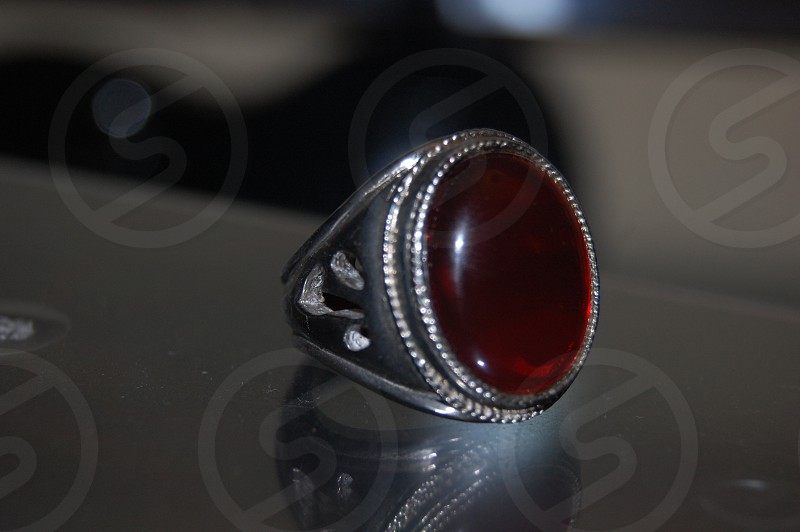 ring ruby cultured sterling silver large prop shadow reflection markings photo