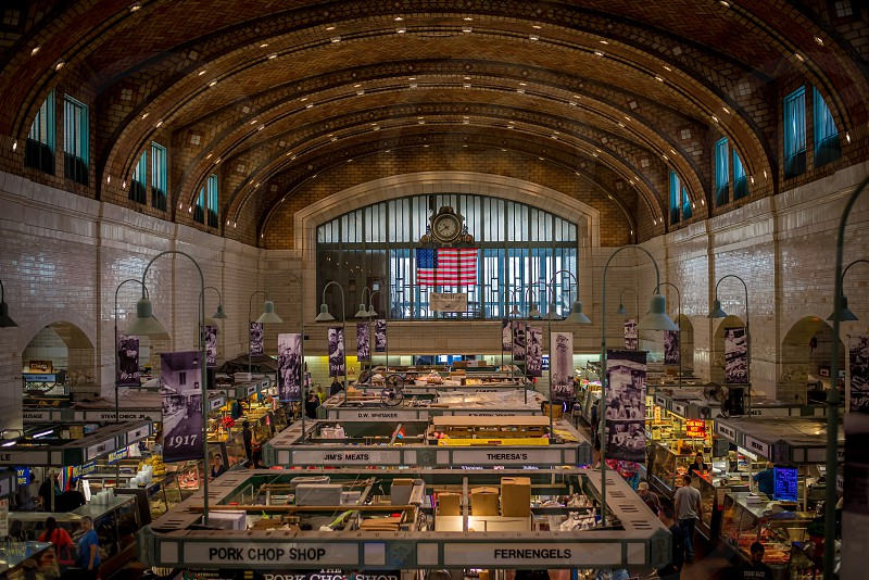 View from the observation level of the West Side Market in Cleveland Ohio photo