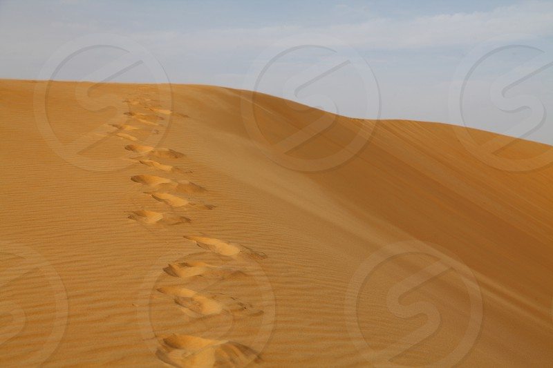 Sand footsteps photo
