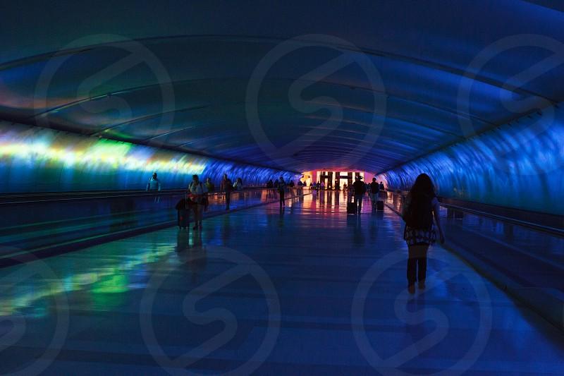Colorful Detroit Michigan Airport Terminal photo