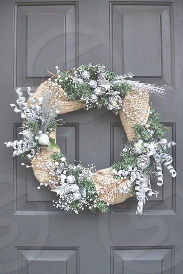 Wreath Door Christmas photo