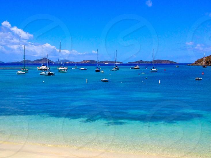 St John island beach in US Virgin Islands  photo