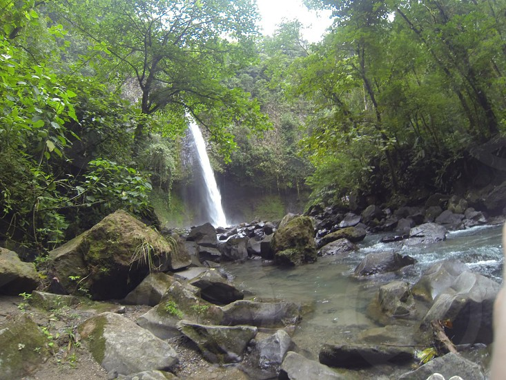 A waterfall in Costa Rica photo