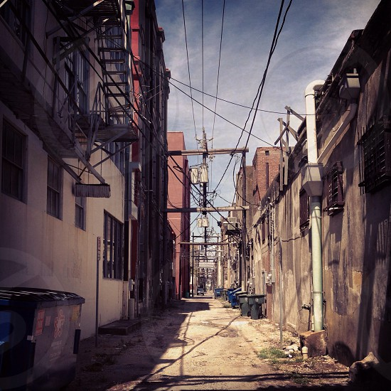 Alley in Galveston TX photo