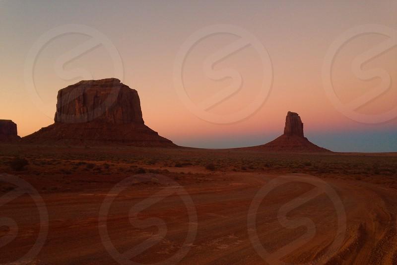 red desert mesa landscape photo