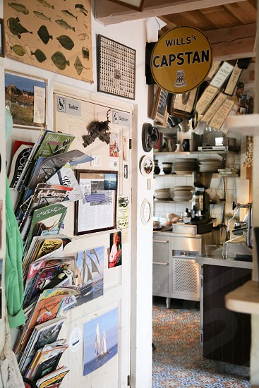 Interior design interior design  magazines utensils kitchen home things still life objects object narrow crowded  collector photo