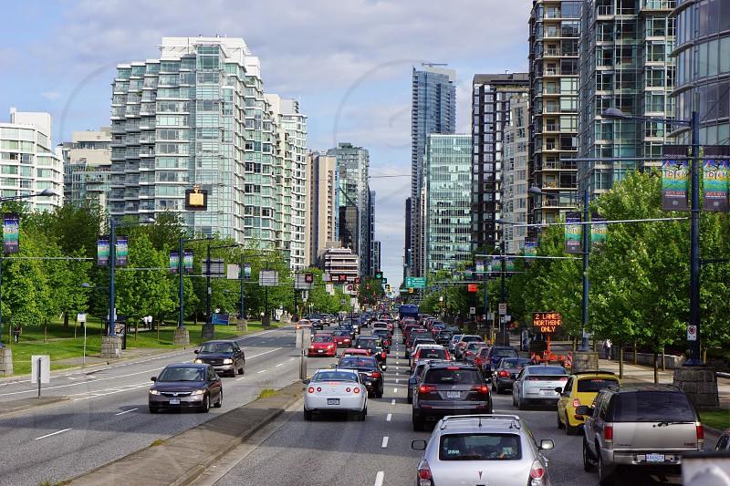 cars on traffic jam photograph photo