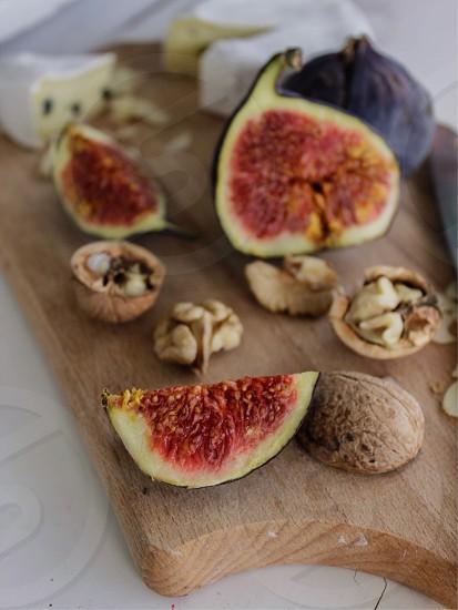 Still studio lifestyle food figs nuts photo
