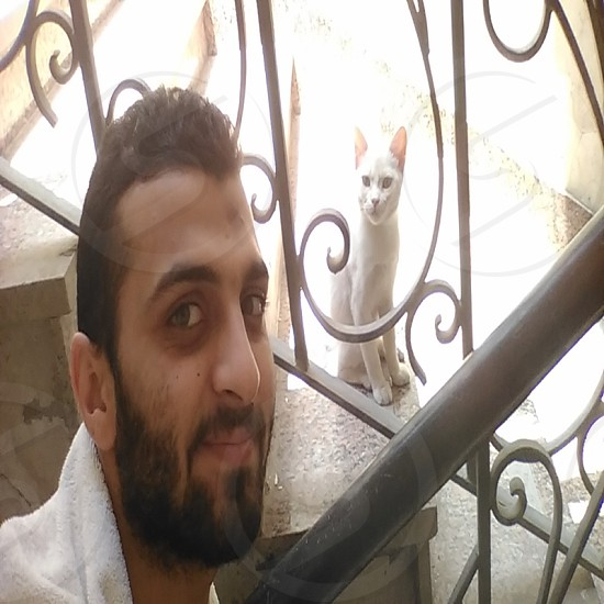 Selfie with cat  :) photo