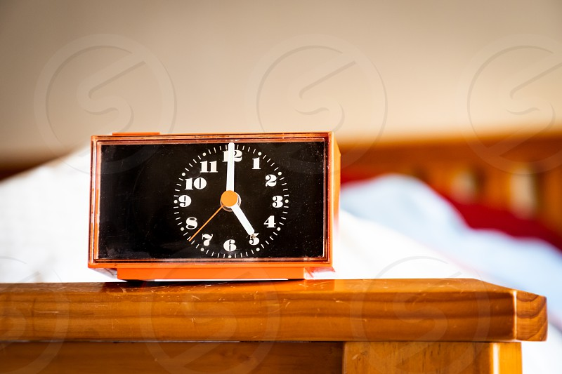Alarm Clock set for 5am in the morning photo