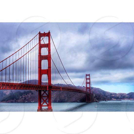Golden Gate Bridge San Francisco Bridge Landmark Monument  photo