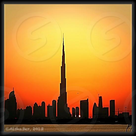 Sunset at Burj Khalifa DUBAI photo
