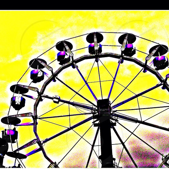 painting of black Ferris's wheel photo