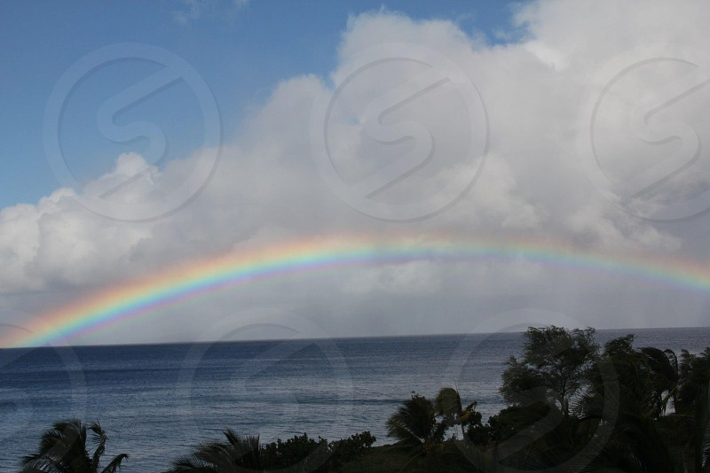 Rainbow over the Pacific.  Maui HI photo