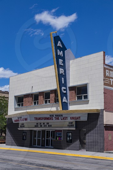 America Theatre Cinema house movie Casper Wyoming USA  photo