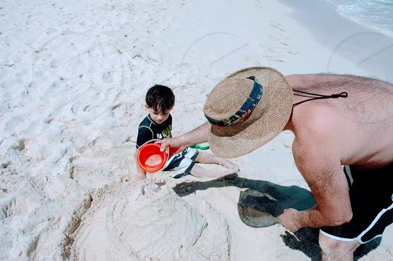 Fun family outdoors activities summer lifestyle  photo