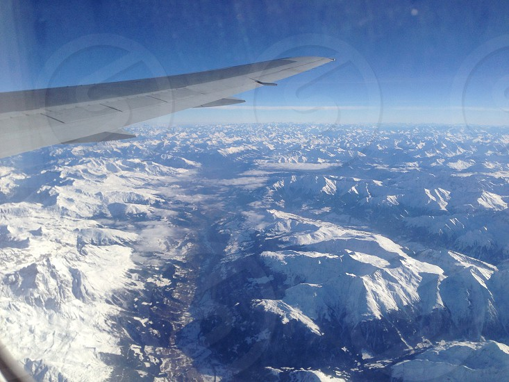 view from top of the airplane  photo