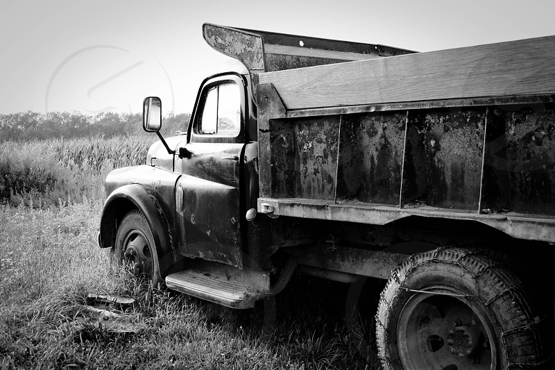 1940s flat bed truck photo