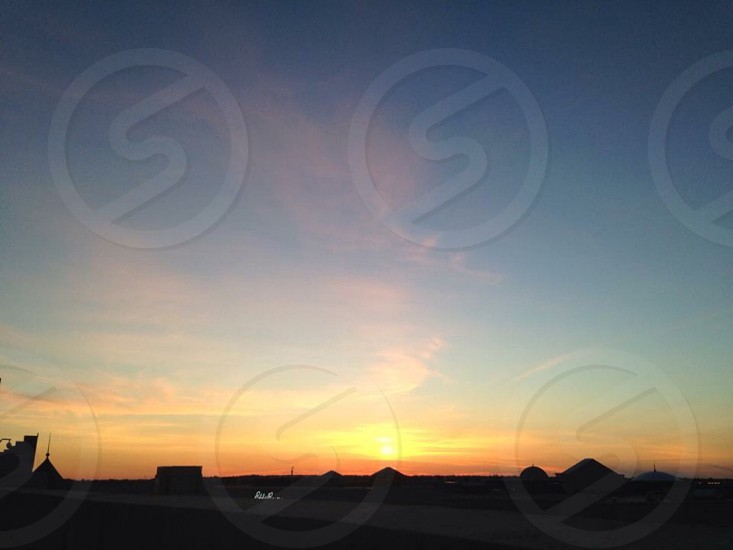 Sunset; rooftops; nature; neighborhood photo
