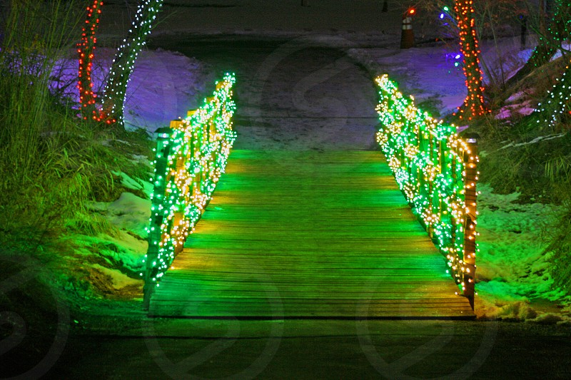 Trail of lights. photo