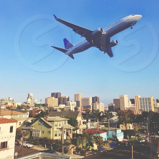 flying airplane  photo