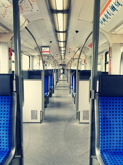 empty city train in the morning photo