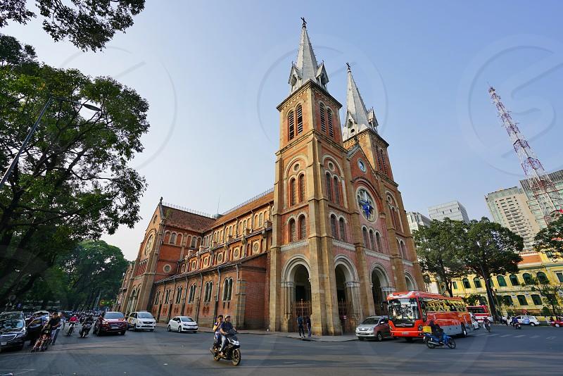The Saigon Notre-Dame Basilica cathedral in Saigon Ho Chi Minh City Vietnam photo
