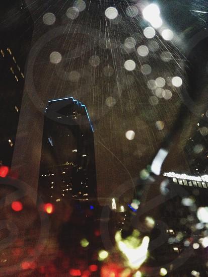 Downtown Dallas shower. photo