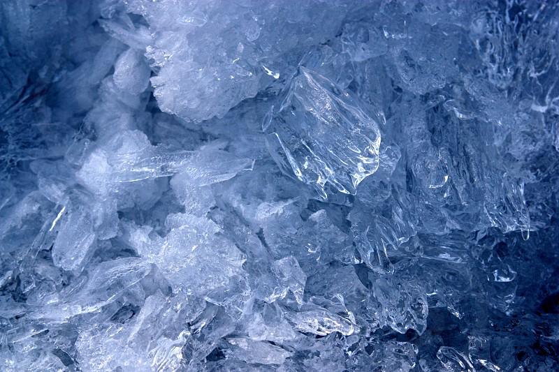 Ice. Burlington Vermont.  photo