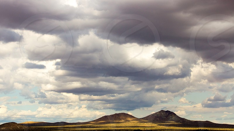 Clouds cloud mountain  butte  desert mojave photo