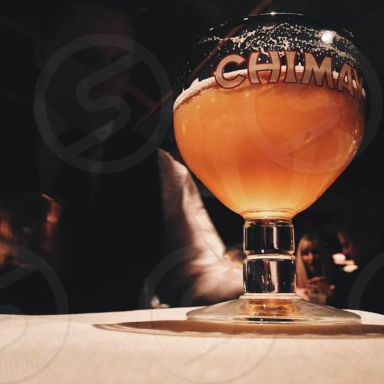 male bartender preparing drinks photo