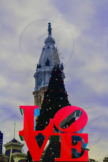 PHILADELPHIA LOVE PARK CITY HALL CHRISTMAS VILLAGE photo