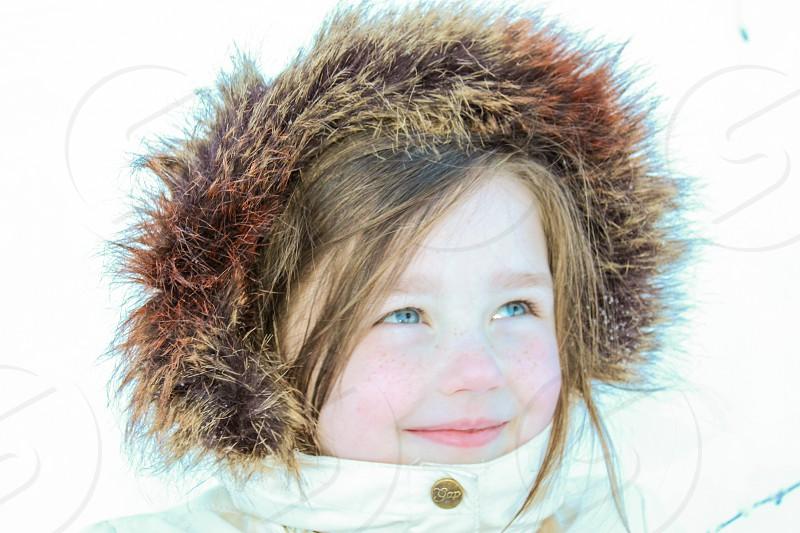 Girl Snow Winter Wonderland Warm photo