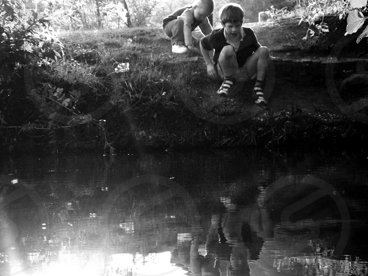River bank childhood discovery photo
