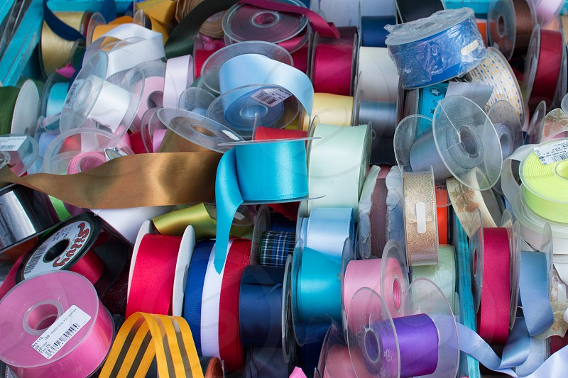 Trim Ribbons Sewing Colorful photo