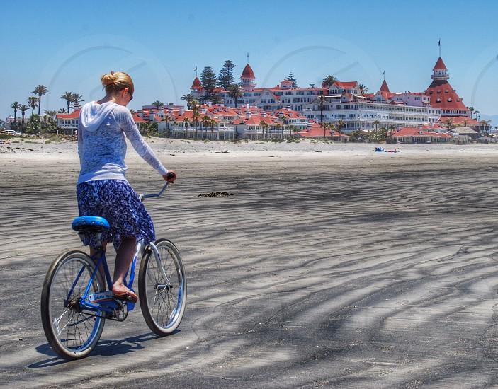 Beach Biking at the Hotel Del. photo