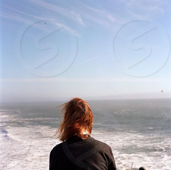 woman near beach photo