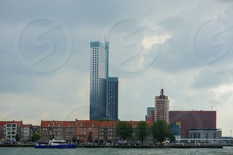 city scape of rotterdam holland photo
